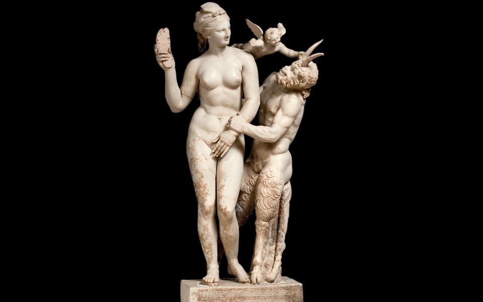 <h5>APHRODITE, PAN AND EROS (CA. 100 BC)</h5>