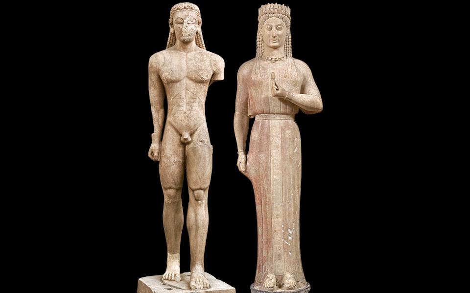 <h5>THE SOUNION KOUROS (CA. 600 BC) & PHRASIKLEIA KORE (550-540 BC)</h5>