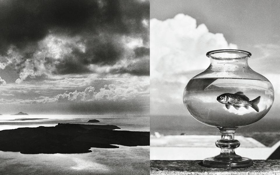 "<h5>(L) Santorini, 1937  (R) ""Goldfish Bowl,"" Santorini, Greece, 1937</h5>"