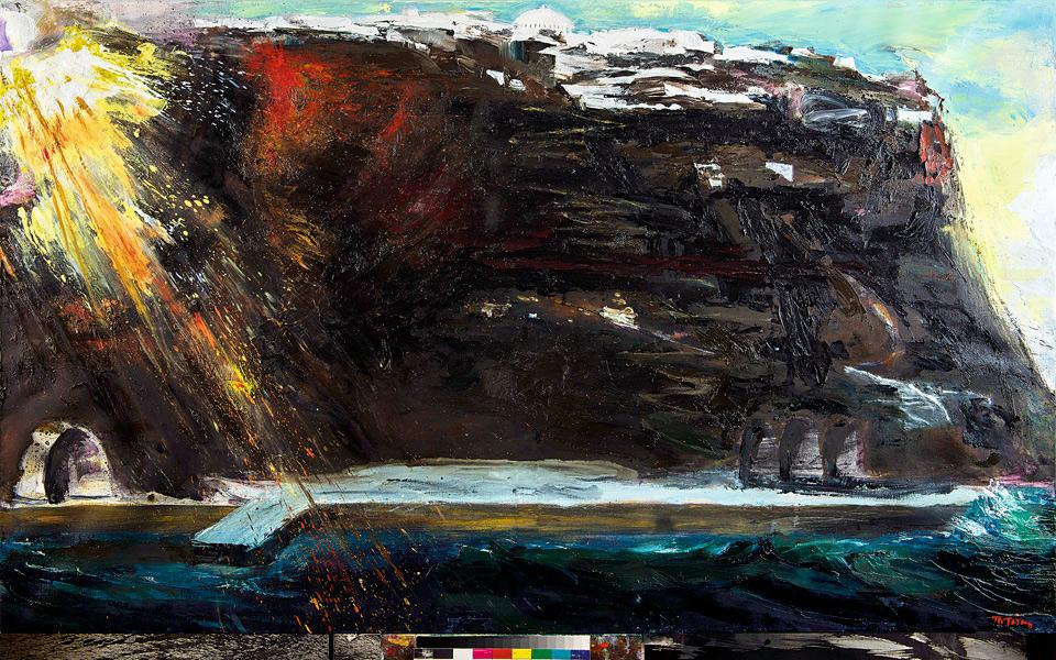 <h5>Santorini, 2011-2013, oil on canvas, 124 x 210 cm</h5>