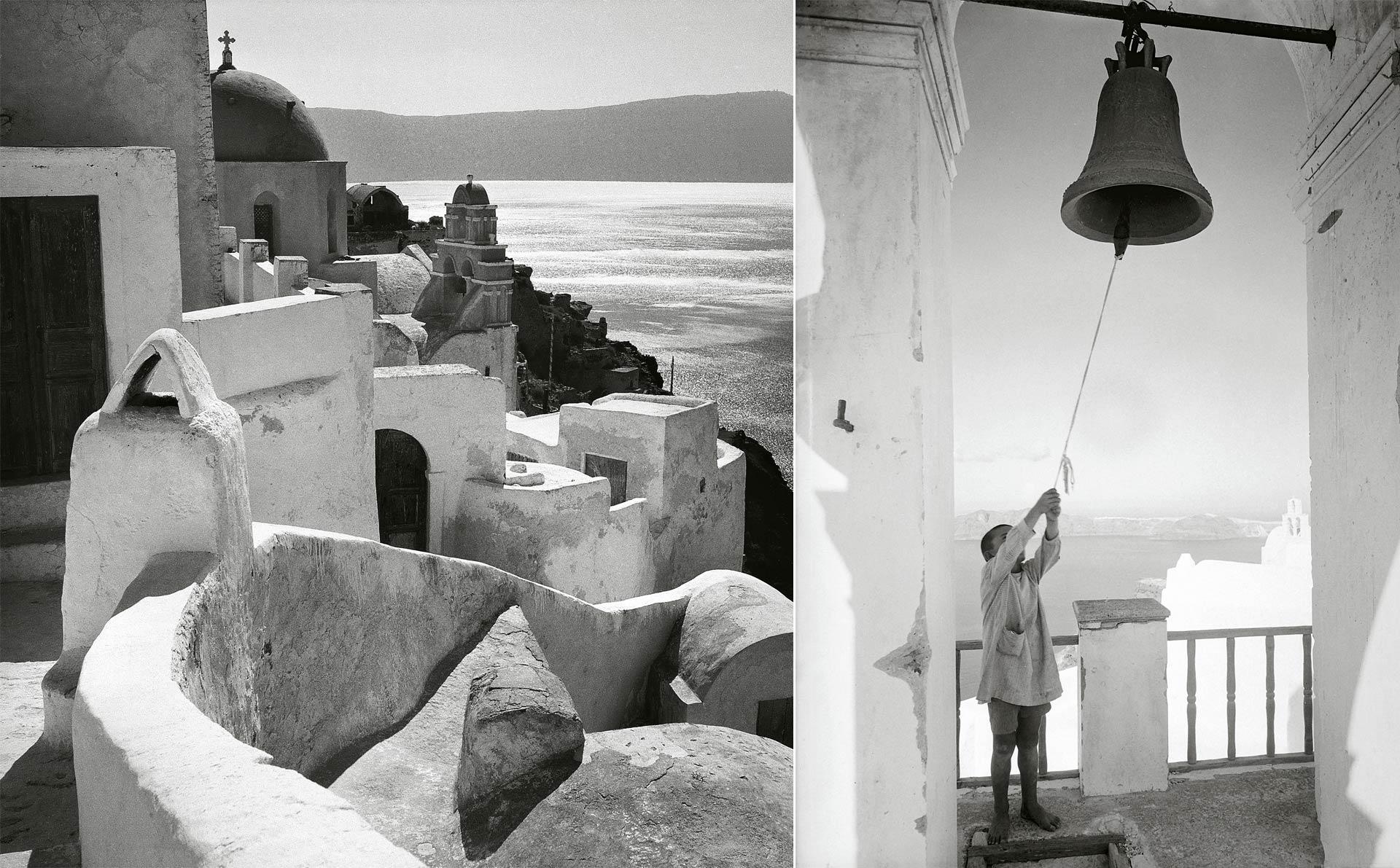<h5>(L) Oia, Santorini, 1950-1955  (R) Santorini, 1930</h5>
