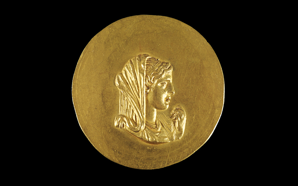 <h5>Gold medal of Olympias (225-250 AD)</h5>