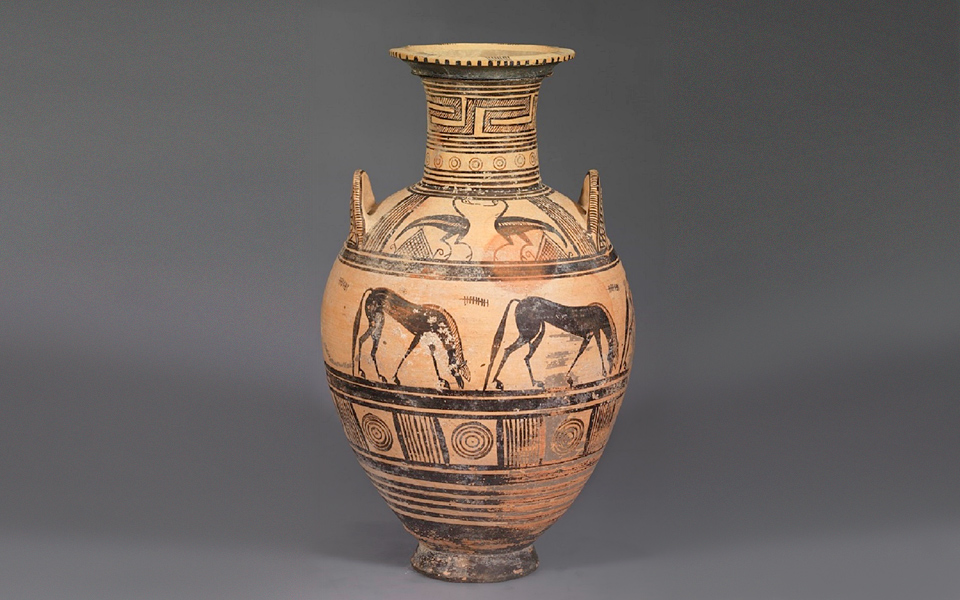 <h5>A Cycladic amphora from the early 7th century BC</h5>