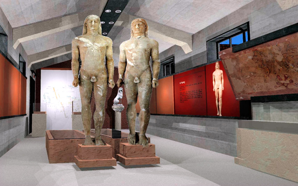 Twin Kouroi Finally at Ancient Corinth Museum - Greece Is