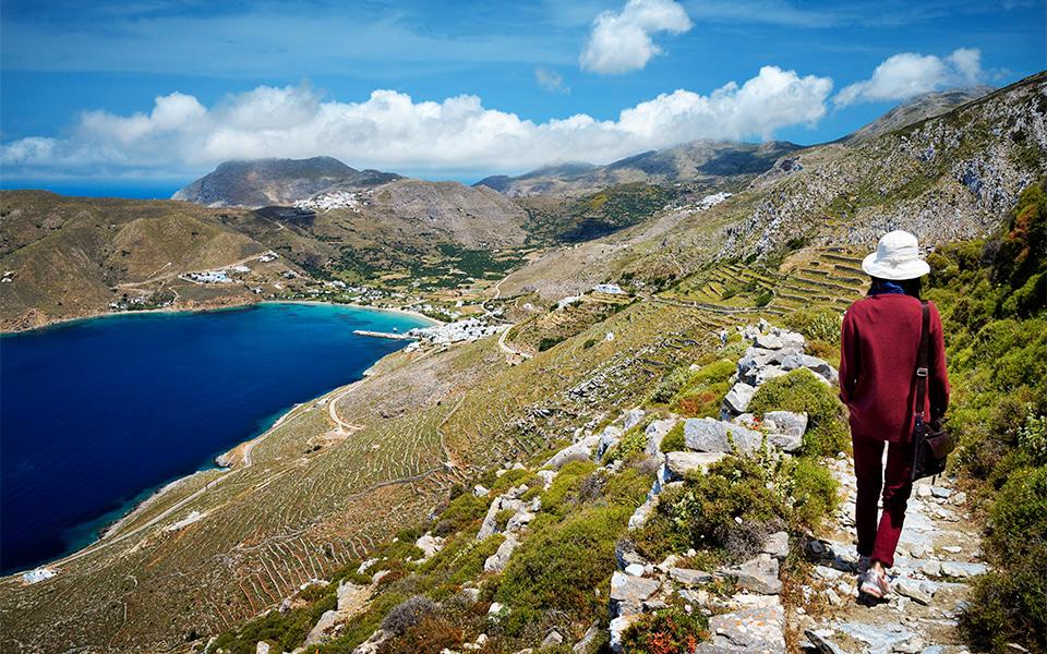 amorgos spring hiking trails