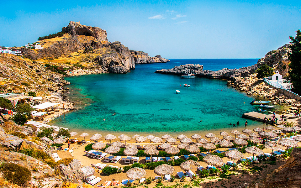 St Pauls Beach At Lindos