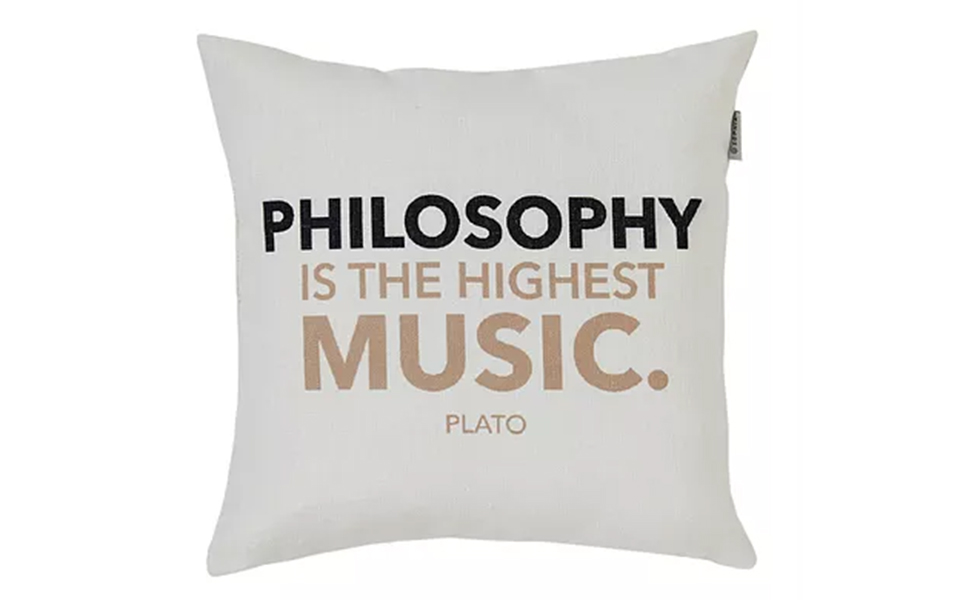 <h5>Philosopher Quote Cushion Covers - €42.90</h5>