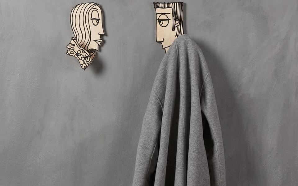 "<h5>""She Hangs"" and ""He Hangs"" Hangers - €40</h5>"