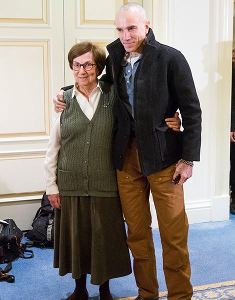 2e8c60cf2777 Daniel Day Lewis with Daphne Economou, the President of Cerebral Palsy  Greece Daniel Day Lewis with Daphne Economou, the President of Cerebral  Palsy Greece
