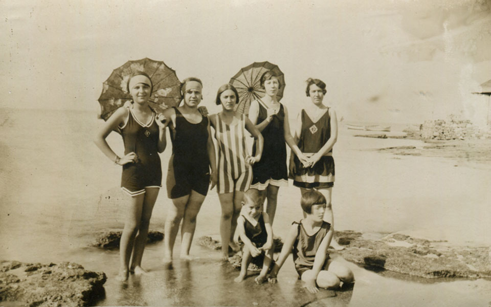 08ca75d45 The one-piece swimsuit is now standard, but there are still women who wear  the more traditional type of swimming attire. The children's swimsuits are  ...