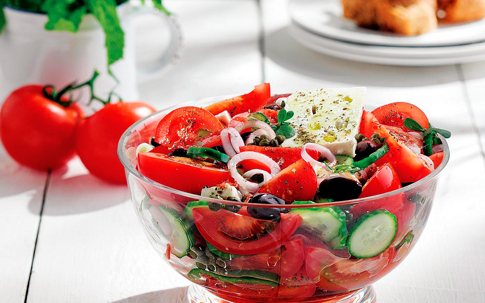 Greek Salad Recipe Diane Kochilas